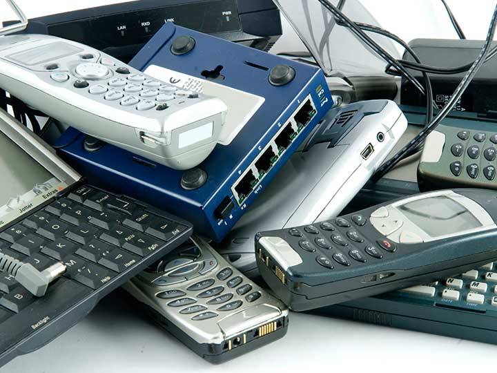 A pile of old electronics