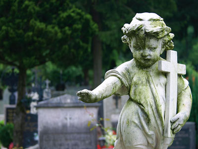 Funeral Homes: A memorial statue in a cemetery