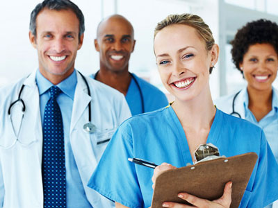 Medical: A group of smiling medical professionals